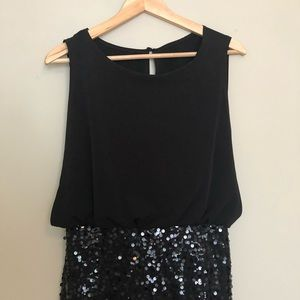 Mesh Top with Sequin Skirt Dress